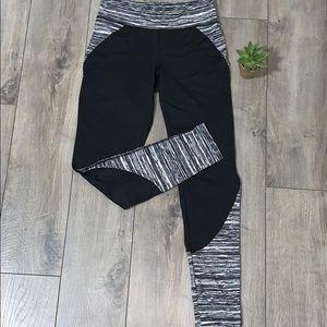 2/$20 Black Yoga Pants w/ Decorative Design